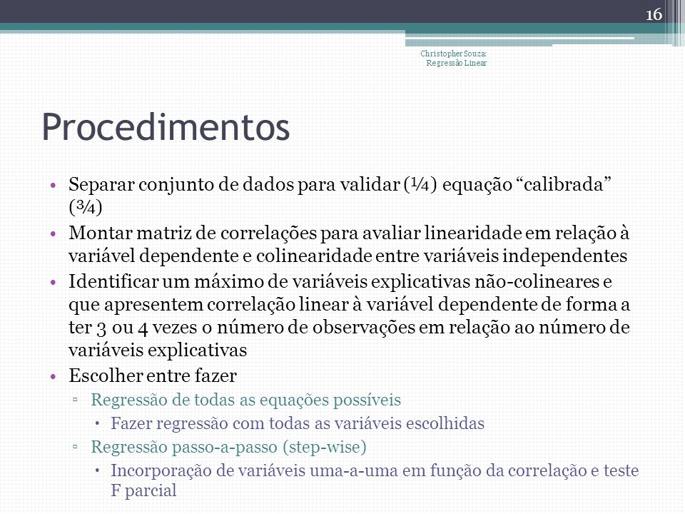 Christopher Souza: Regressão Linear