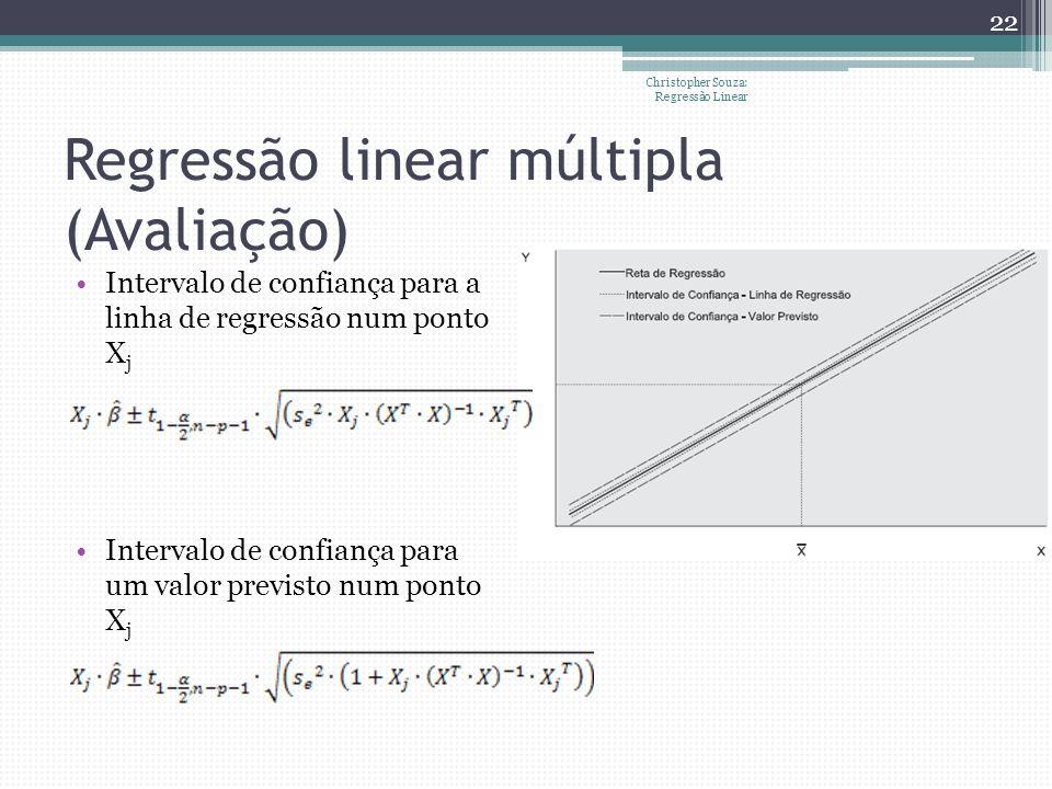 Regressão linear múltipla (Avaliação)