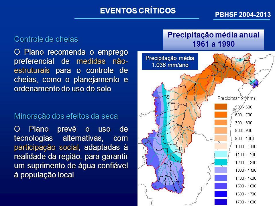 Precipitação média anual 1961 a 1990