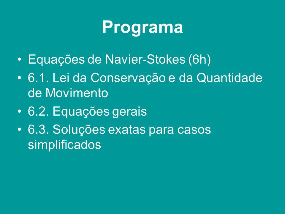 Programa Equações de Navier-Stokes (6h)