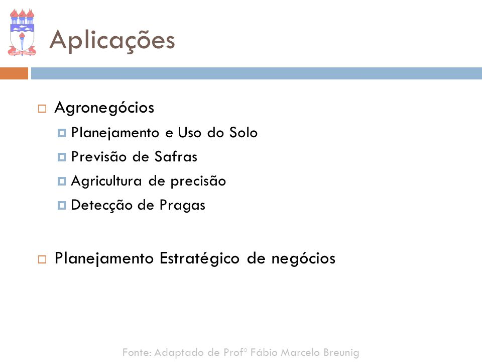 Aplicações Agronegócios Planejamento Estratégico de negócios