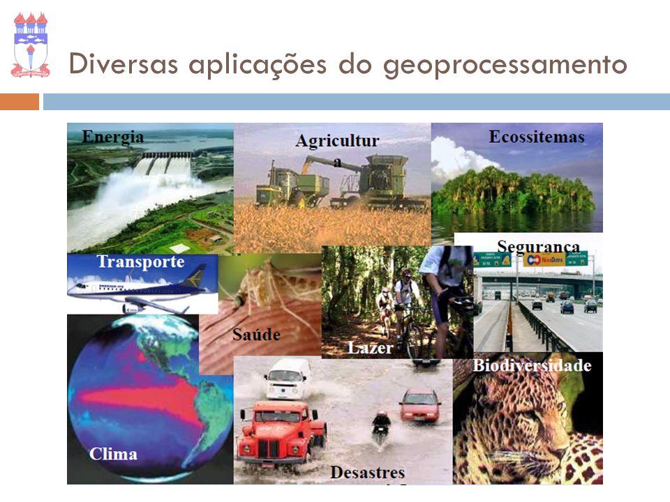 Diversas aplicações do geoprocessamento