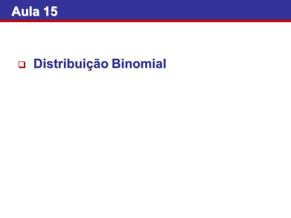 Aula 15 Distribuição Binomial
