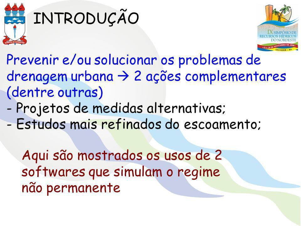 INTRODUÇÃO Prevenir e/ou solucionar os problemas de drenagem urbana  2 ações complementares (dentre outras)