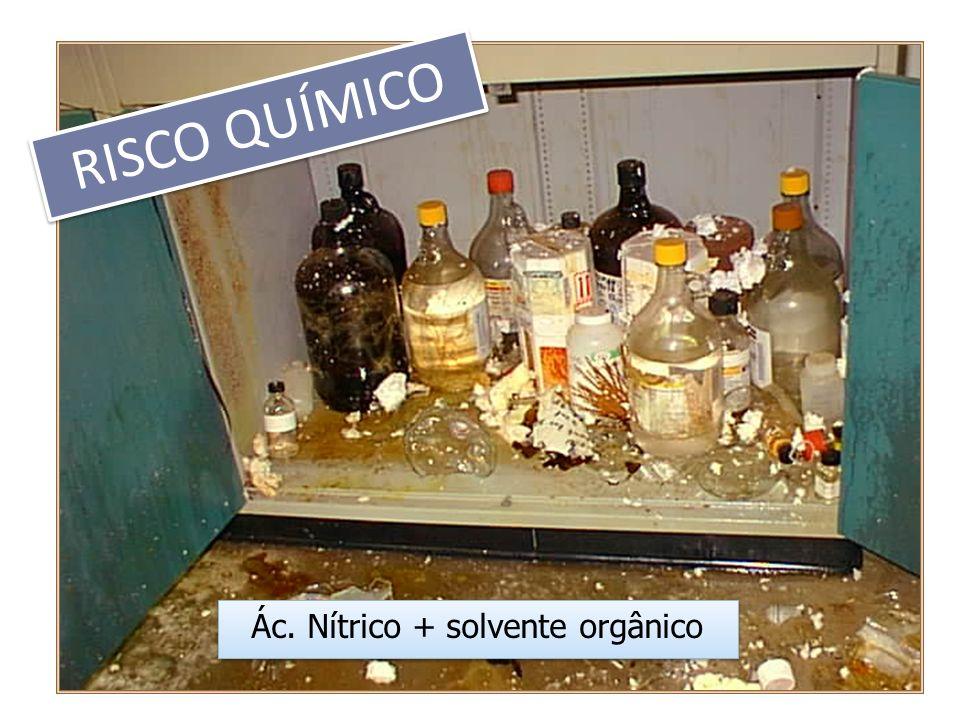Ác. Nítrico + solvente orgânico