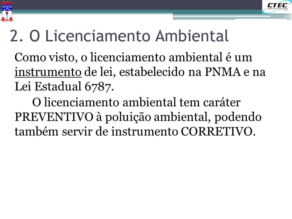 2. O Licenciamento Ambiental