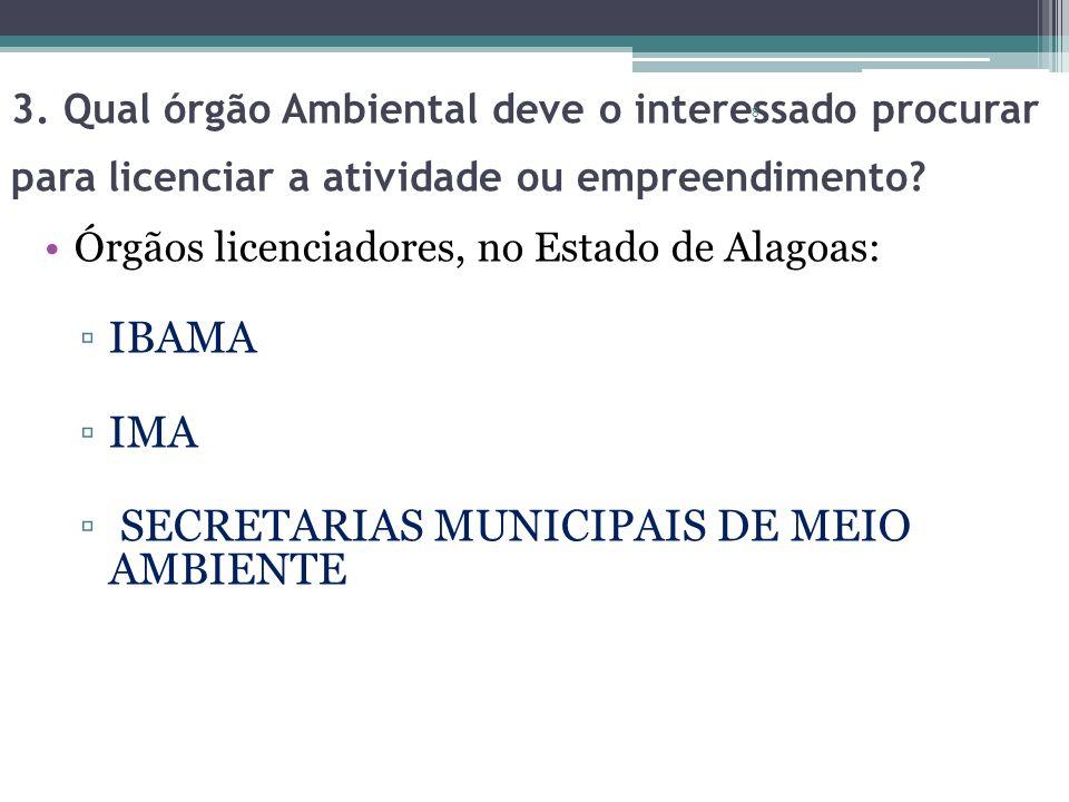 SECRETARIAS MUNICIPAIS DE MEIO AMBIENTE