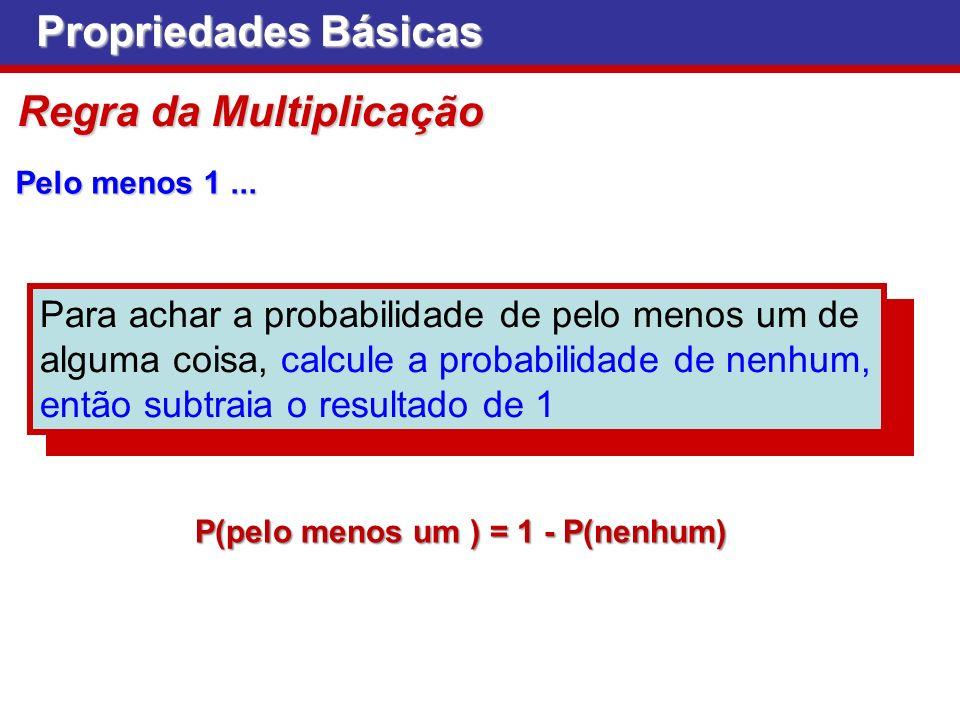 P(pelo menos um ) = 1 - P(nenhum)