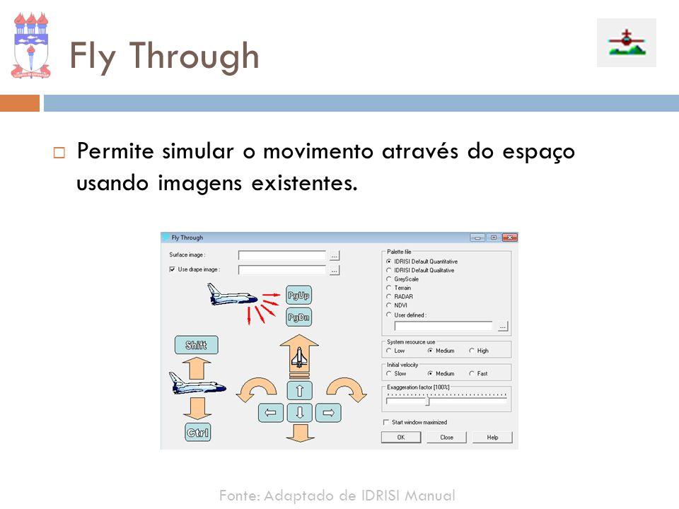 Fly Through Permite simular o movimento através do espaço usando imagens existentes.