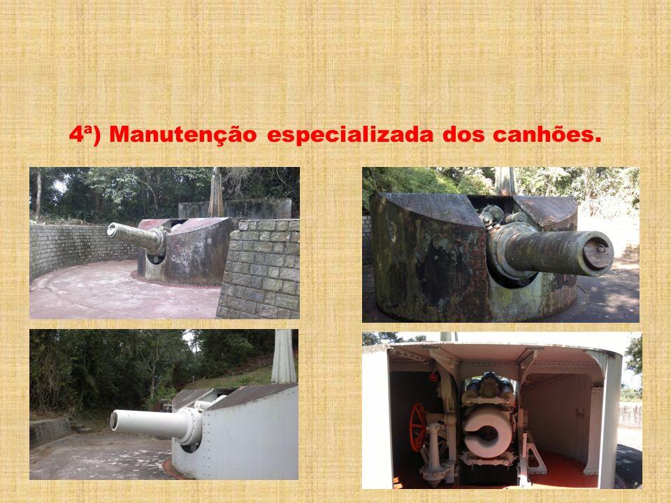 4ª) Manutenção especializada dos canhões.