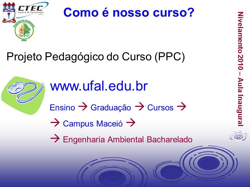 www.ufal.edu.br Como é nosso curso Projeto Pedagógico do Curso (PPC)