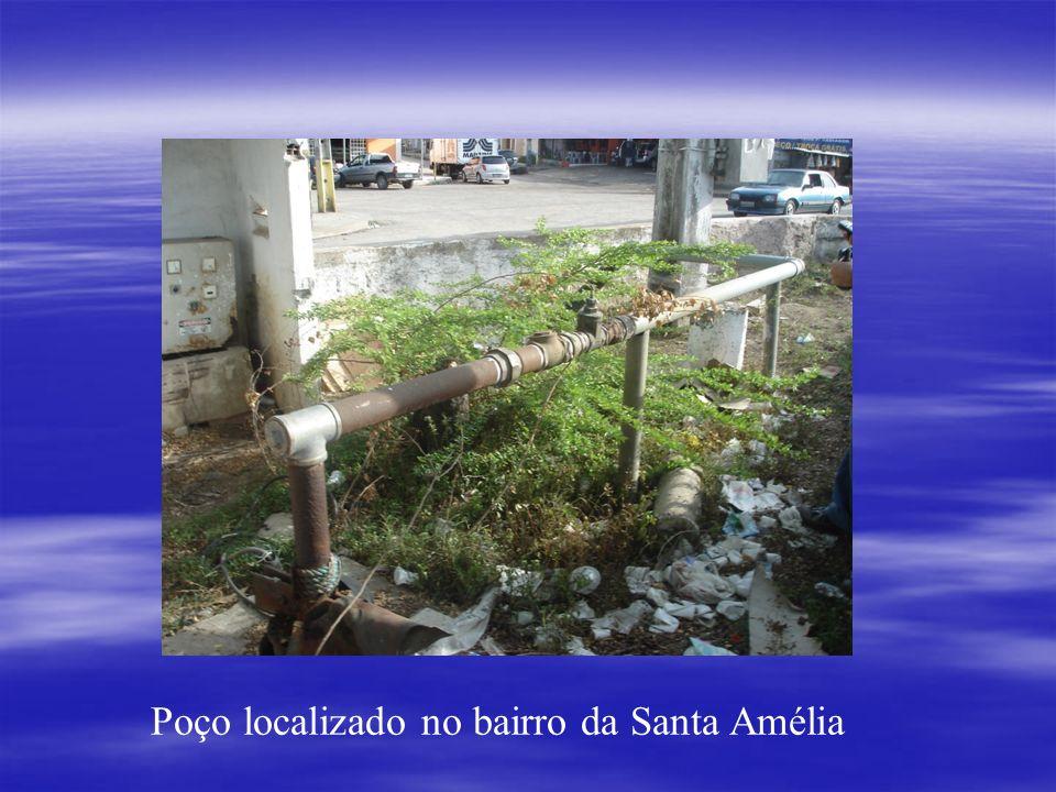 Poço localizado no bairro da Santa Amélia