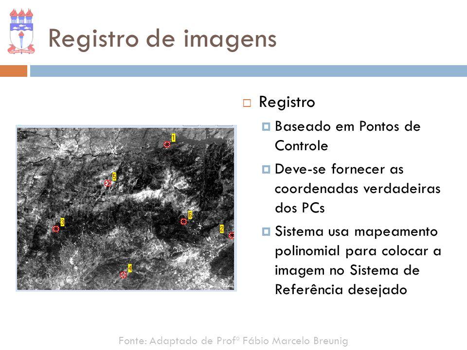 Registro de imagens Registro Baseado em Pontos de Controle