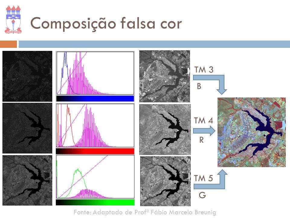 Composição falsa cor TM 3 B TM 4 R TM 5 G