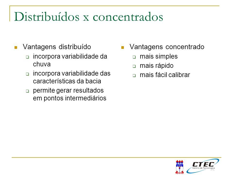 Distribuídos x concentrados