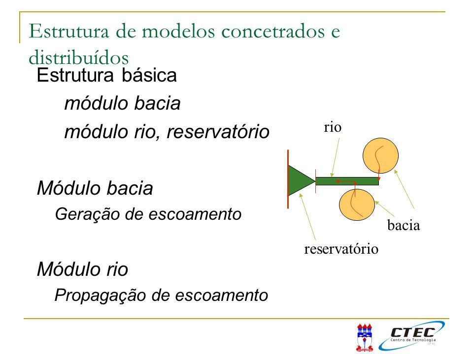 Estrutura de modelos concetrados e distribuídos