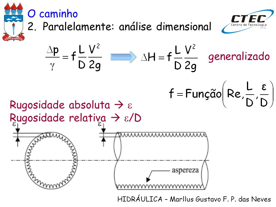 O caminhoParalelamente: análise dimensional.generalizado.