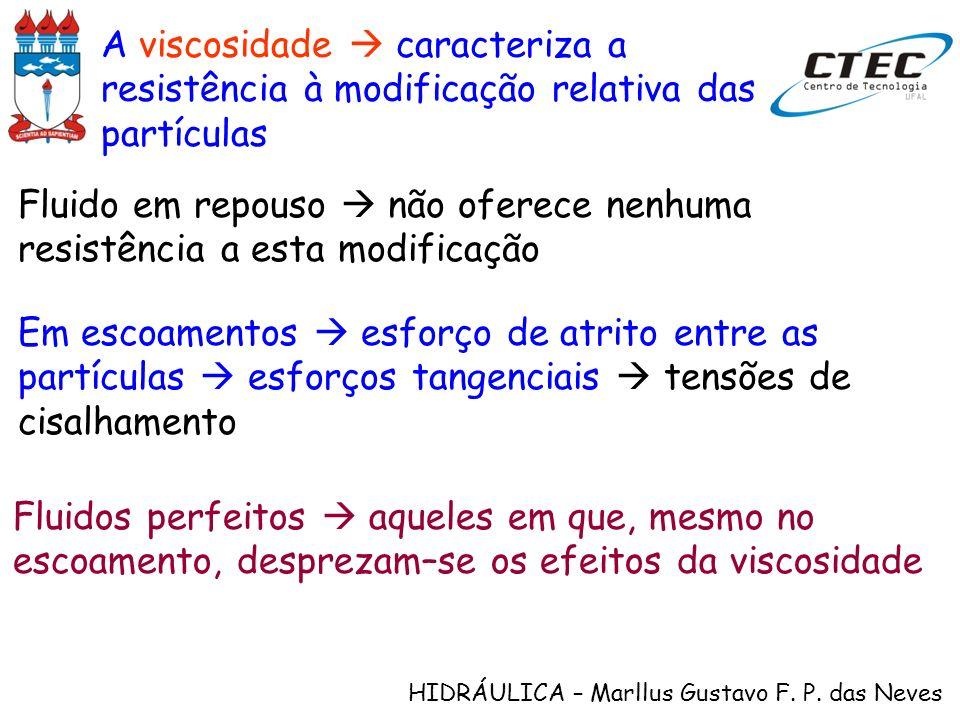 A viscosidade  caracteriza a resistência à modificação relativa das partículas