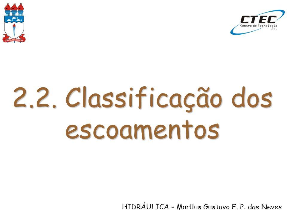 2.2. Classificação dos escoamentos