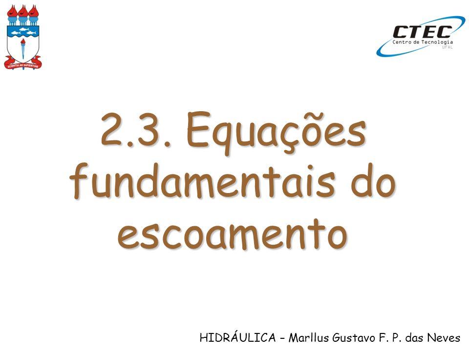 2.3. Equações fundamentais do escoamento
