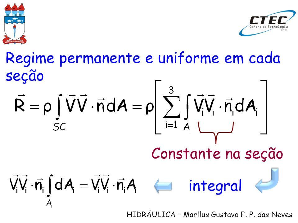 Regime permanente e uniforme em cada seção