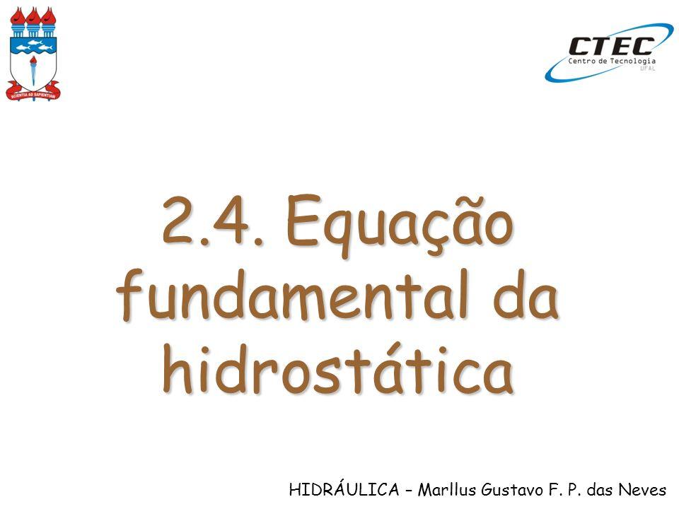 2.4. Equação fundamental da hidrostática