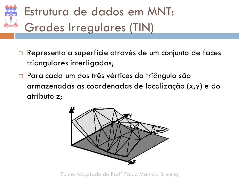 Estrutura de dados em MNT: Grades Irregulares (TIN)