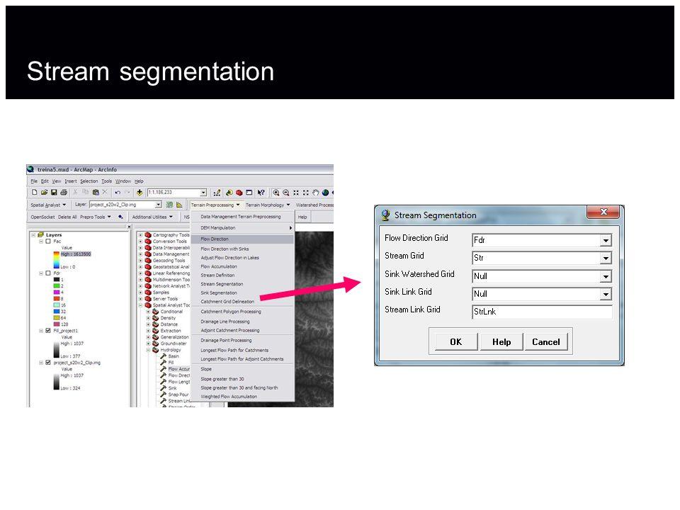 Stream segmentation