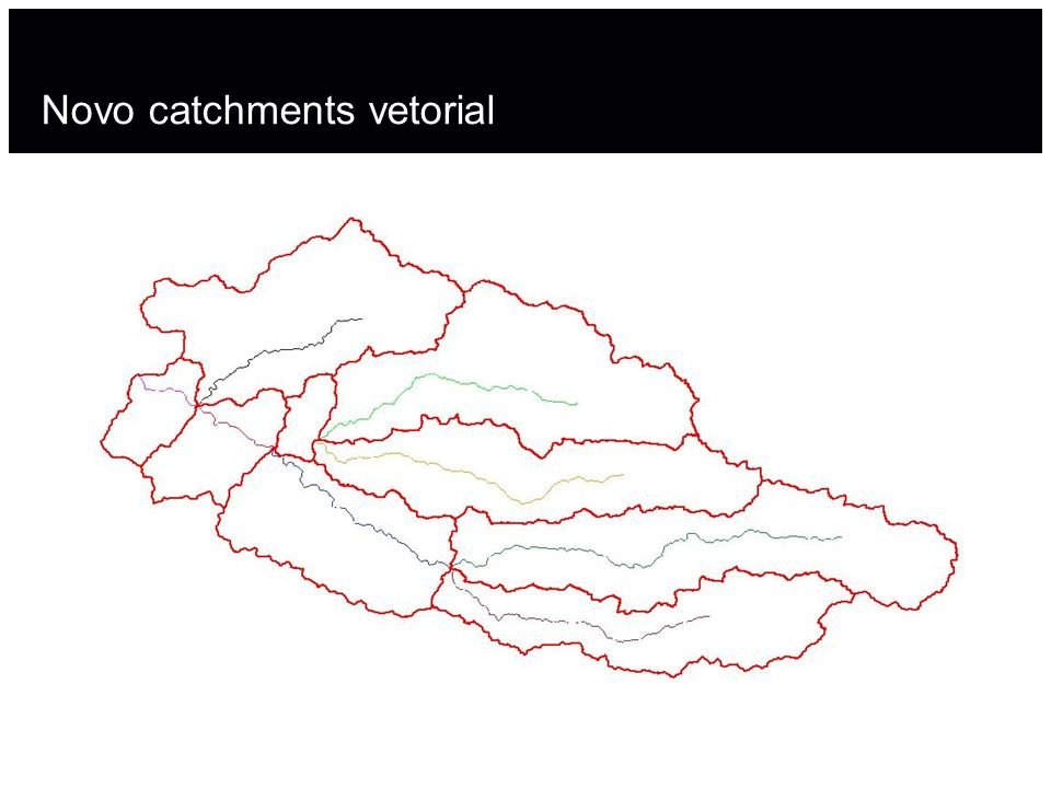 Novo catchments vetorial