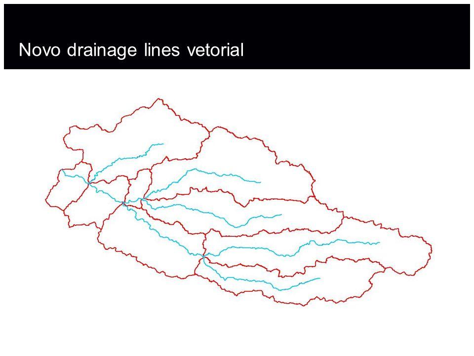 Novo drainage lines vetorial