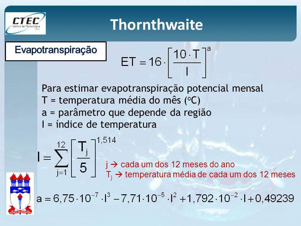 Thornthwaite Evapotranspiração