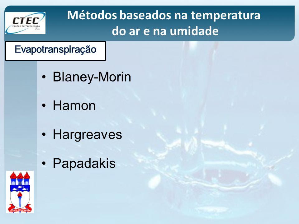 Métodos baseados na temperatura