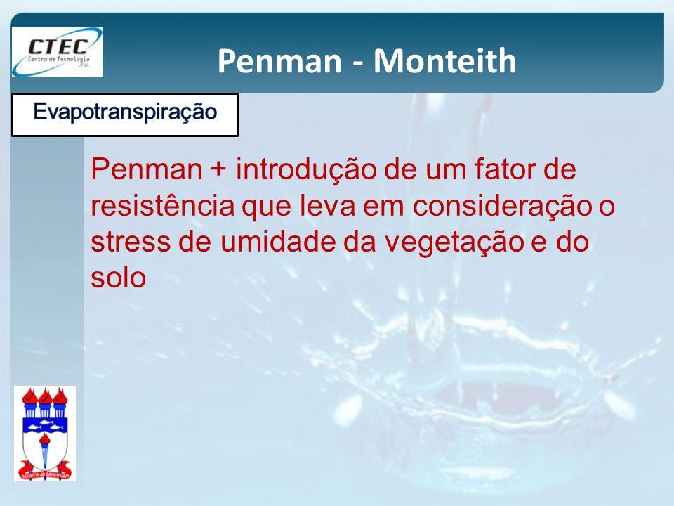 Penman - Monteith Evapotranspiração.