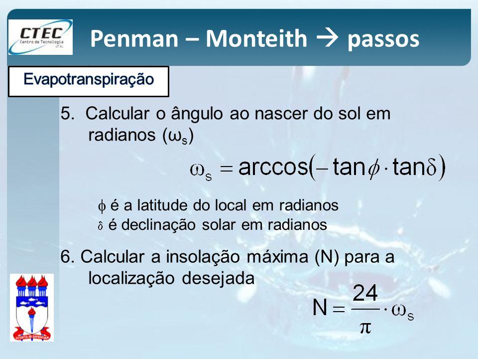Penman – Monteith  passos