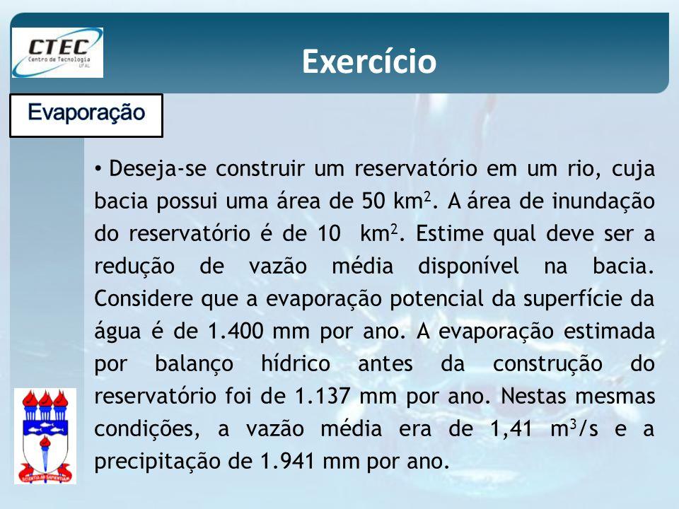 Exercício Evaporação.
