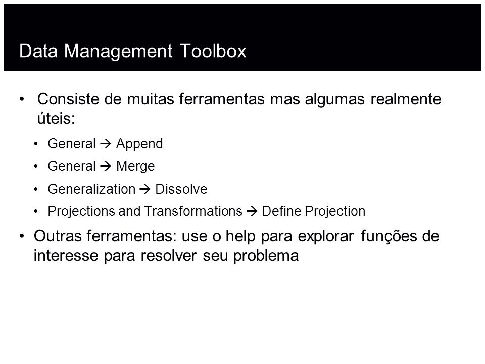 Data Management Toolbox