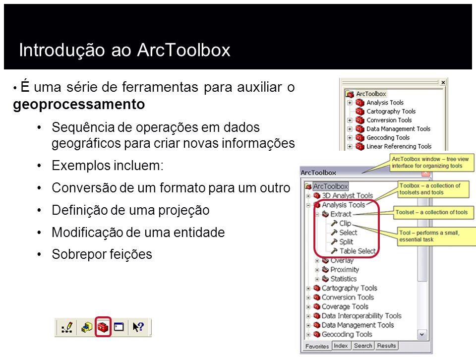 Introdução ao ArcToolbox