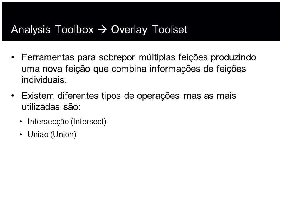 Analysis Toolbox  Overlay Toolset