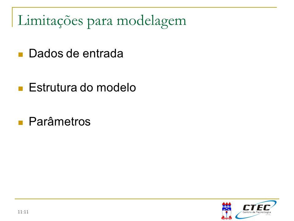 Limitações para modelagem