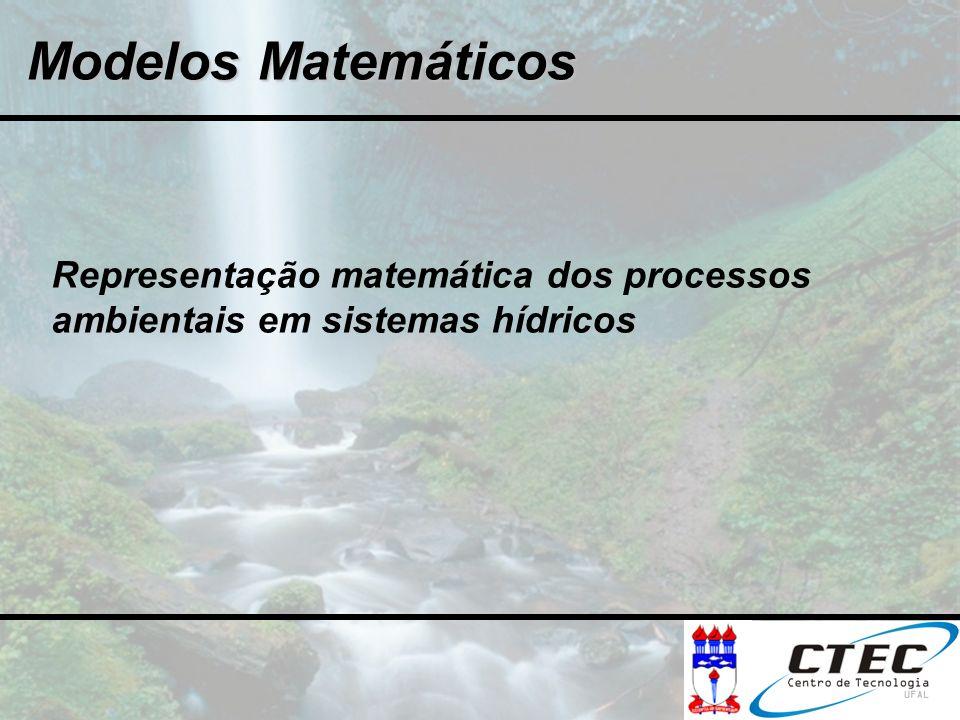 Modelos Matemáticos Representação matemática dos processos ambientais em sistemas hídricos
