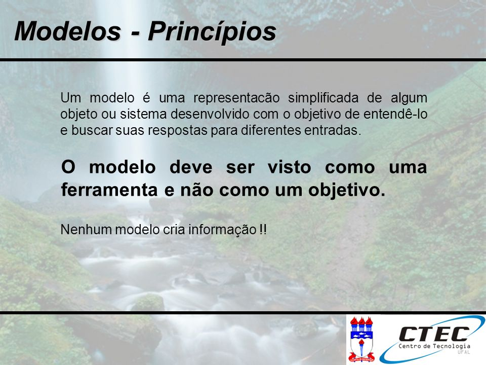 Modelos - Princípios