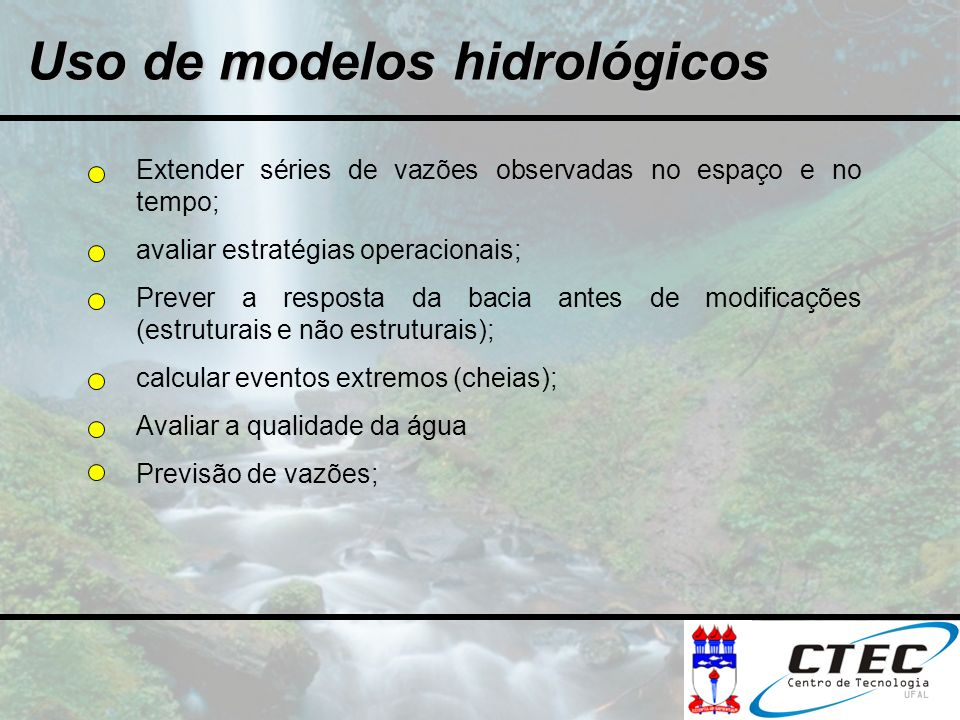 Uso de modelos hidrológicos