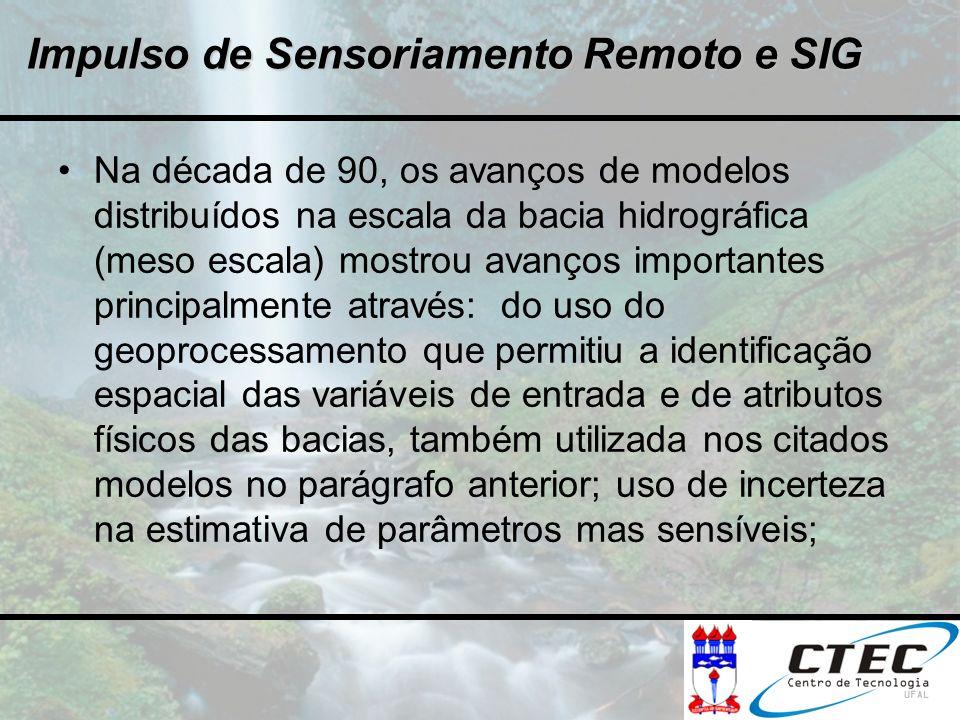 Impulso de Sensoriamento Remoto e SIG
