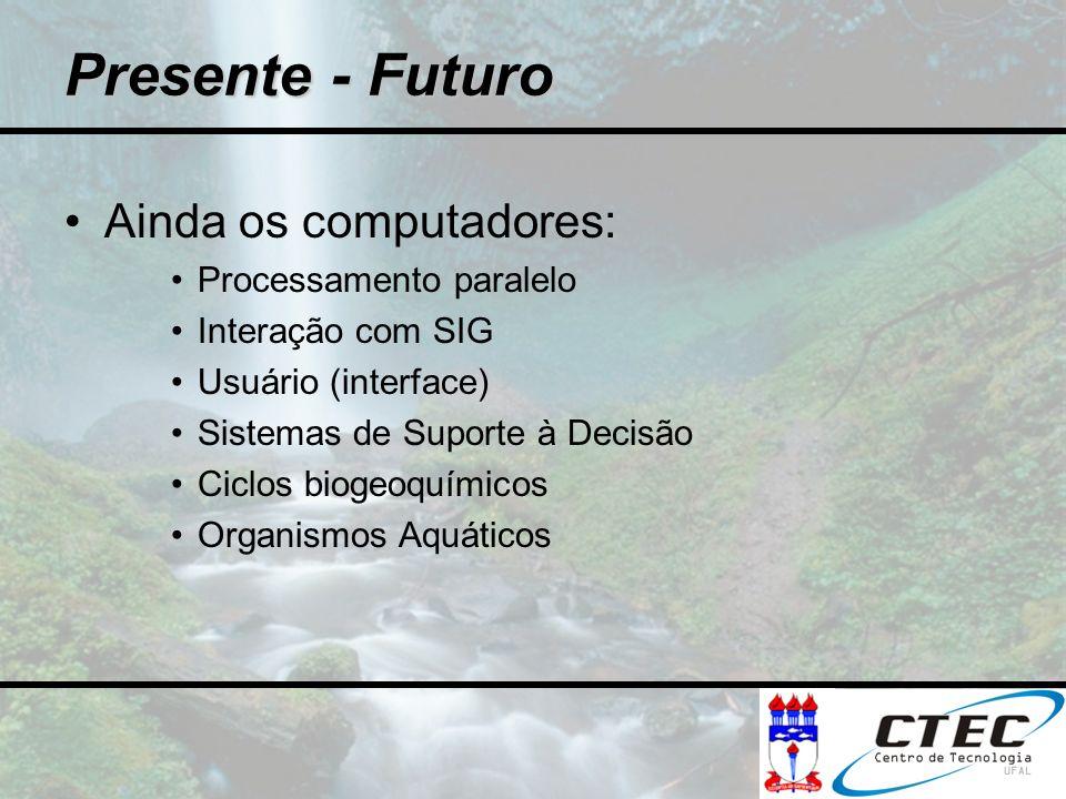 Presente - Futuro Ainda os computadores: Processamento paralelo