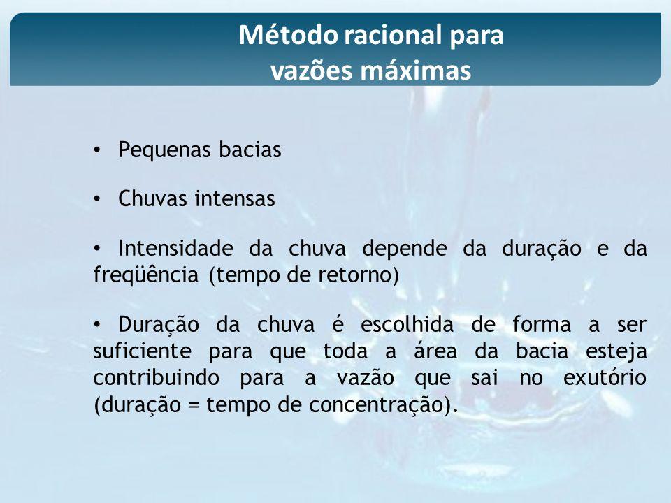 Método racional para vazões máximas