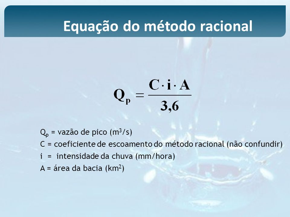 Equação do método racional