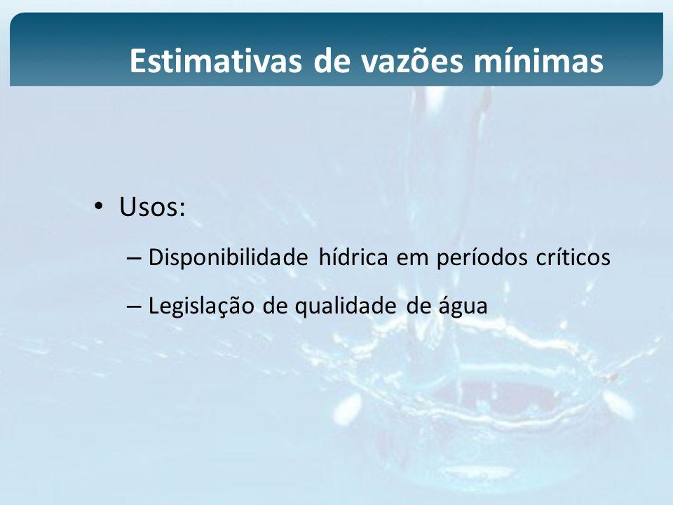 Estimativas de vazões mínimas