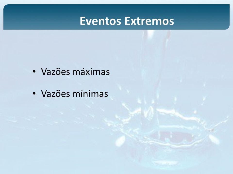 Eventos Extremos Vazões máximas Vazões mínimas