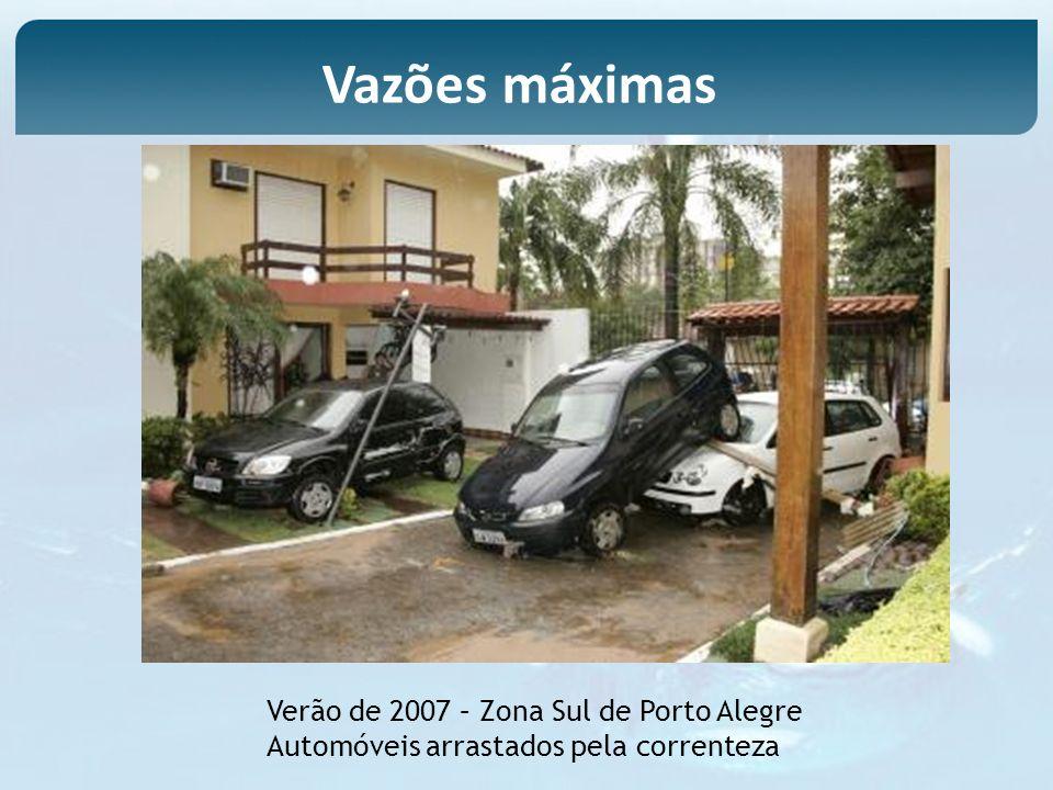 Vazões máximas Verão de 2007 – Zona Sul de Porto Alegre