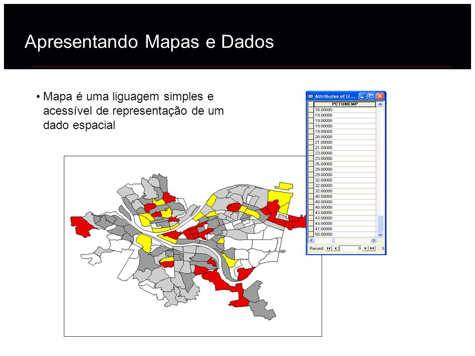 Apresentando Mapas e Dados
